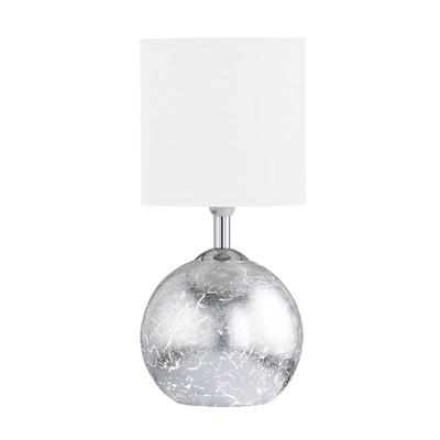 Lampada da tavolo Carmen bianco, in cotone su pvc, E14 MAX 40W IP20 WOFI