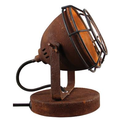 Lampada da tavolo Carmen nero, ruggine, in metallo, GU10 MAX 28W IP20