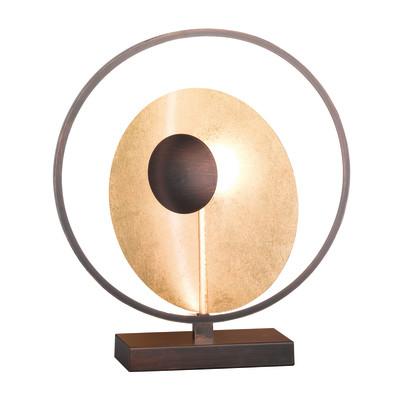 Lampada da tavolo CATANIA oro, marrone, in metallo, LED integrato MAX25W IP20 WOFI