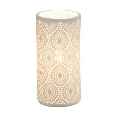 Lampada da tavolo Cendres bianco, in ceramica, E14 MAX 25W IP20