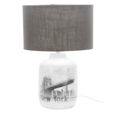 Lampada da tavolo City grigio, in tessuto, E27 MAX 40W IP20
