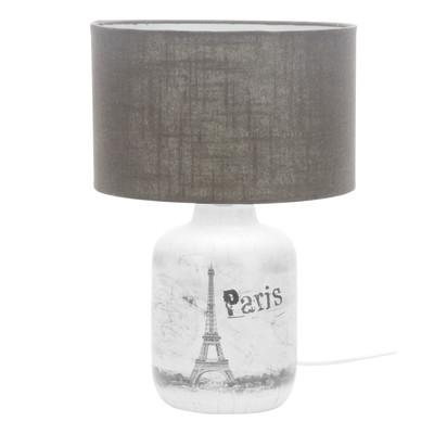 Lampada da tavolo City Paris grigio, in ceramica, E27 MAX 40W IP20