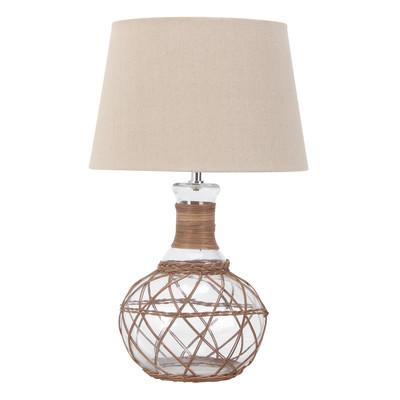 Lampada da tavolo Beverly avorio, in tessuto, E27 MAX 40W IP20