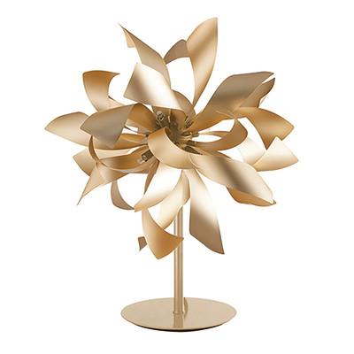 Lampada da comodino Bloom oro, in alluminio, G9 4xMAX 28W IP20