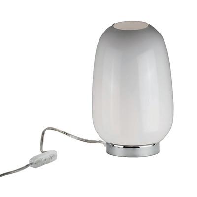 Lampada da tavolo Ilenia bianco, in vetro, E27 MAX 72W IP20