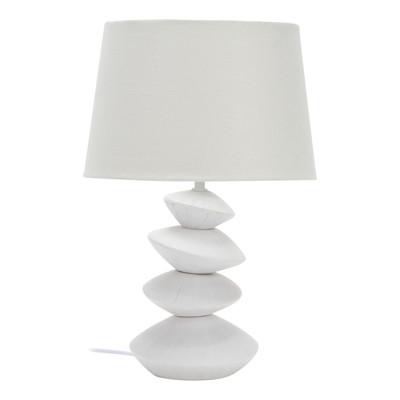 Lampada da tavolo Dakota bianco, in ceramica, E27 MAX 40W IP20