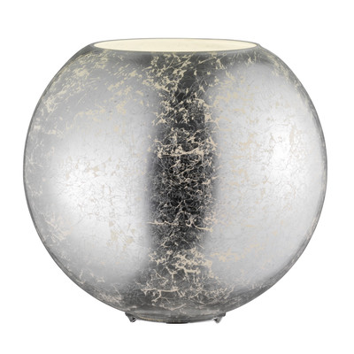 Lampada da tavolo Fara alluminio, in vetro, E27 MAX 60W IP20 WOFI