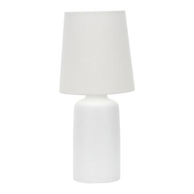 Lampada da tavolo Miami bianco, in tessuto, E27 MAX 40W IP20