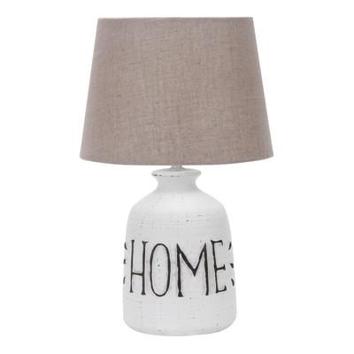 Lampada da tavolo Home marrone, in tessuto, E27 MAX 40W IP20