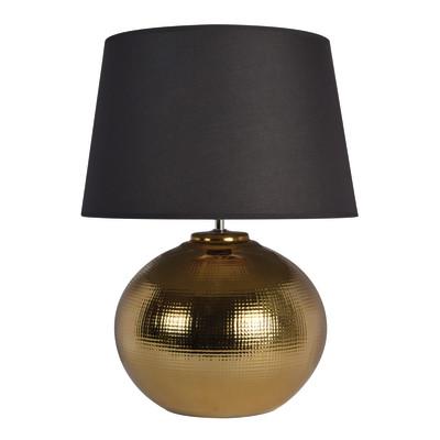 Lampada da tavolo Ibiza nero, in tessuto, E27 MAX 40W IP20