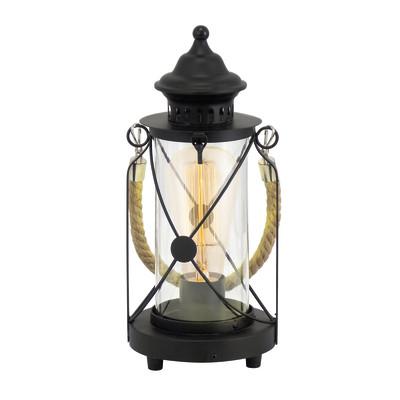 Lampada da tavolo Lanterna nero, trasparente, in vetro, E27 MAX 60W IP20 EGLO