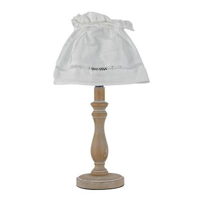 Lampada da comodino Lullaby bianco, in tessuto, E14 MAX 28W IP20