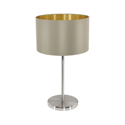 Lampada da tavolo Maserlo grigio, oro, in sintetico, E27 MAX 60W IP20 EGLO