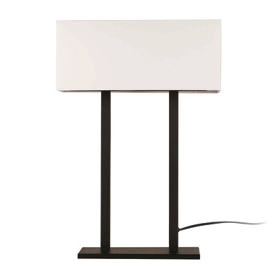 Lampada da tavolo ML064 bianco, in tessuto, E27 MAX 100W IP20