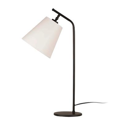 Lampada da scrivania ML096 bianco, in tessuto, E27 MAX 100W IP20