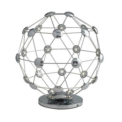 Lampada da tavolo LED-MOLES-L35 grigio, in ferro, LED integrato MAX1W IP20