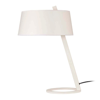 Lampada da tavolo ML111 bianco, in tessuto, E27 MAX 100W IP20