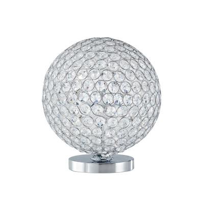 Lampada da tavolo Planet cromo, trasparente, in cristallo, G9 3xMAX 28W IP20