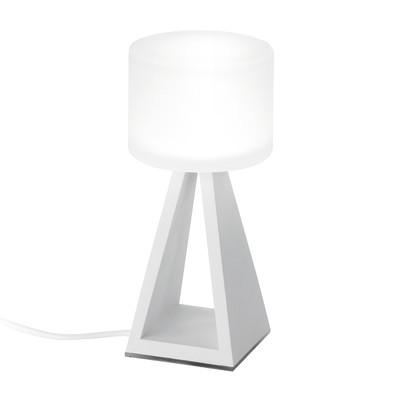 Lampada da tavolo Pup glass bianco, in acrilico, LED integrato MAX7W IP20