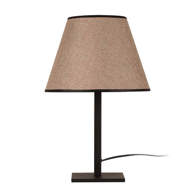 Lampada da tavolo ML047 marrone, in tessuto, E27 MAX 100W IP20