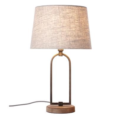 Lampada da tavolo Sora marrone, in tessuto, E27 MAX 40W IP20