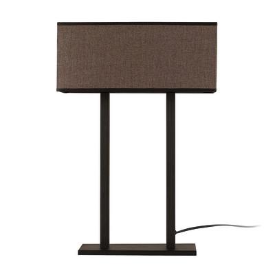 Lampada da tavolo ML063 marrone, in tessuto, E27 MAX 100W IP20