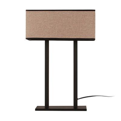 Lampada da tavolo ML062 marrone, in tessuto, E27 MAX 100W IP20