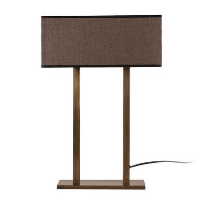 Lampada da tavolo ML068 marrone, in tessuto, E27 MAX 100W IP20