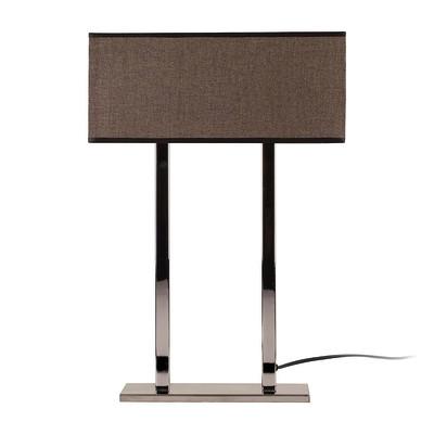 Lampada da tavolo ML058 marrone, in tessuto, E27 MAX 100W IP20