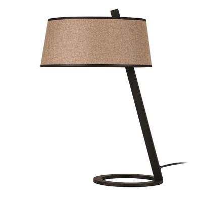 Lampada da tavolo ML105 marrone, in tessuto, E27 MAX 100W IP20