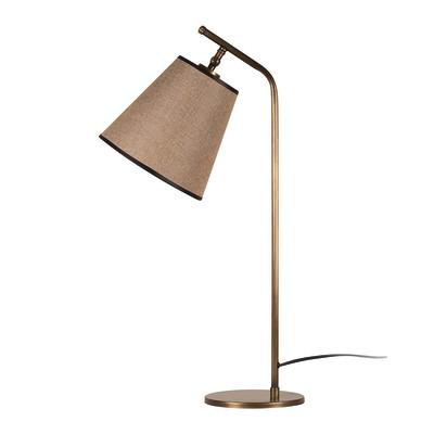 Lampada da scrivania ML087 marrone, in tessuto, E27 MAX 100W IP20