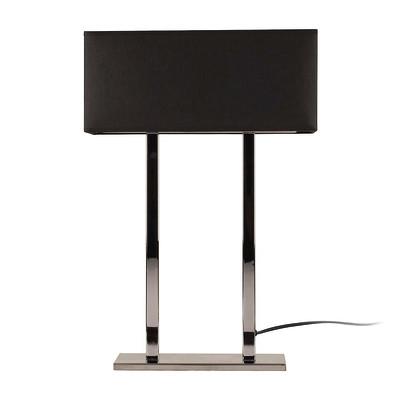 Lampada da tavolo ML056 nero, in tessuto, E27 MAX 100W IP20