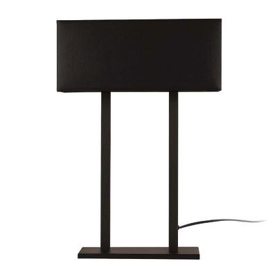 Lampada da tavolo ML061 nero, in tessuto, E27 MAX 100W IP20