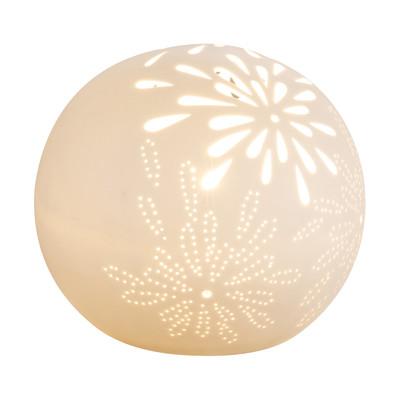 Lampada da tavolo Subara bianco, in ceramica, E14 MAX 25W IP20