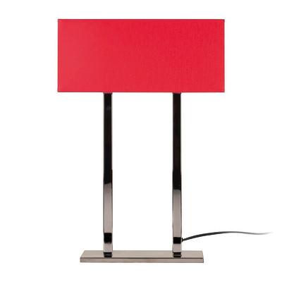Lampada da tavolo ML055 rosso, in tessuto, E27 MAX 100W IP20