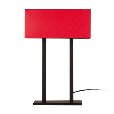 Lampada da tavolo ML060 rosso, in tessuto, E27 MAX 100W IP20