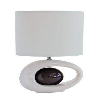 Lampada da tavolo Warren grigio, in tessuto, E27 MAX 60W IP20