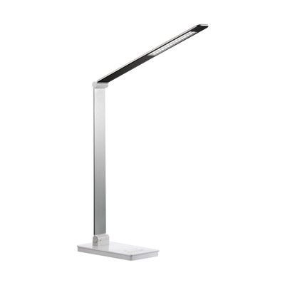 Lampada da scrivania Chargy smerigliata, in plastica, LED integrato 9W