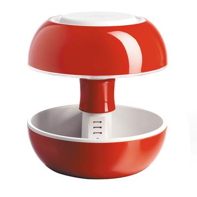Lampada da tavolo Joyo classico rosso trasparente, in plastica, G5.3 MAX3,5W IP20