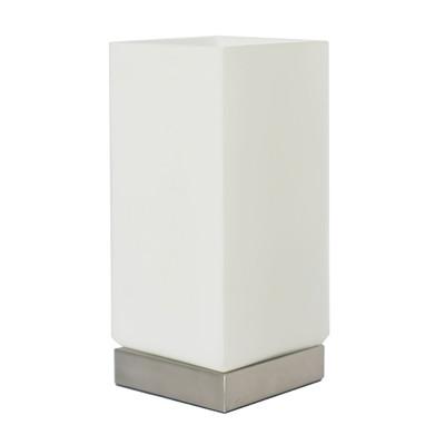 Lampada da comodino Uji touch bianco, in vetro, E27 MAX 40W IP20 INSPIRE