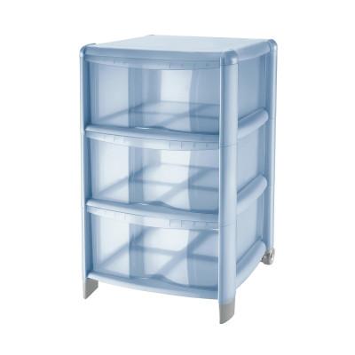 Cassettiera L 39.5 x P 38.5 x H 67 cm blu
