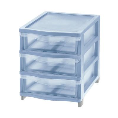 Cassettiera L 26.8 x P 37 x H 31.6 cm blu