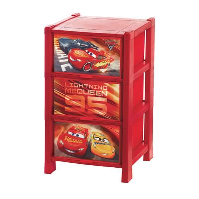 Cassettiera Disney L 38 x P 64 x H 38 cm rosso