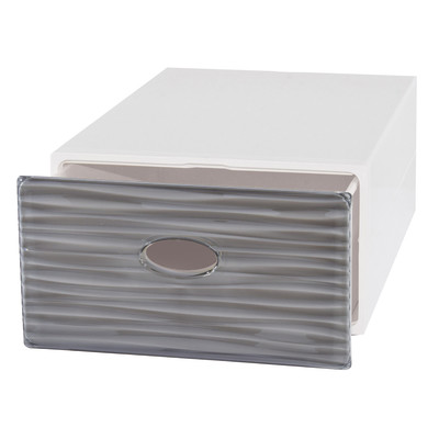 Cassettiera L 40 x P 15 x H 28 cm grigio / argento