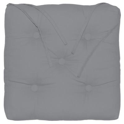 Cuscino per sedia o poltrona Elema grigio 40x5 cm