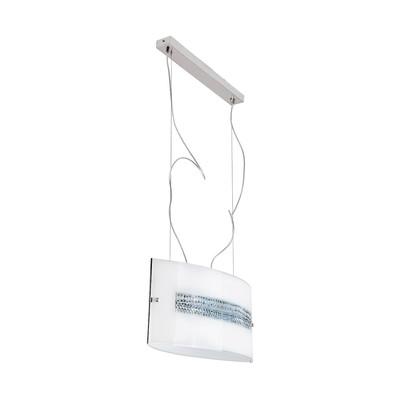 Lampadario Cristal bianco, in vetro, LED integrato 10W 1100LM IP20