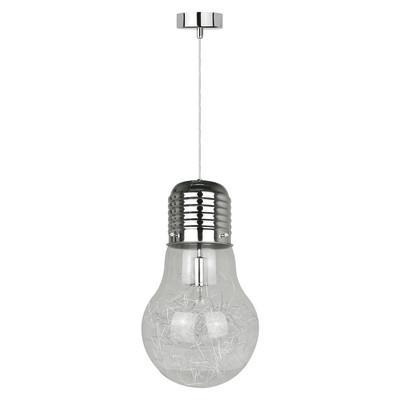 Lampadario Bombilla trasparente, in vetro, diam. 28 cm, E27 MAX60W IP20 INSPIRE