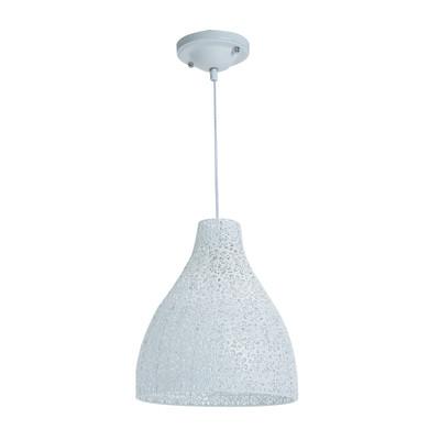 Lampadario Zéphir  bianco, in metallo, diam. 28 cm, E27 MAX40W IP20 LUSSIOL