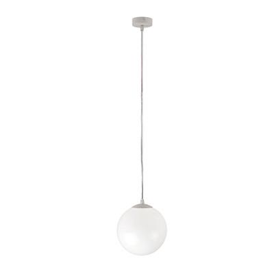 Lampadario Adele bianco, in metallo, diam. 20 cm, E27 MAX42W IP20