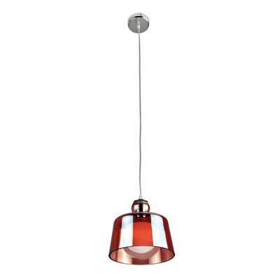 Lampadario Arline rosso, in metallo, diam. 22 cm, E27 MAX42W IP20